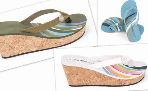 Urban Beach Sandalen Damen -Waves FW565 Gr. 35 - 41 Nr.RE41 blue